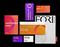Fori events brand design