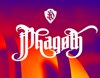 Phagoth calligra-futuristic gothic font