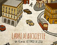 """Illustration: """"Ladri di Biciclette"""" Movie Poster"""