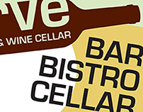 Logo and Print Design: Verve Bistro & Wine Cellar