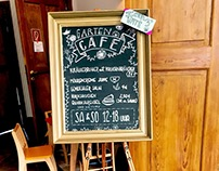 Handlettering blackboards & signs at Coconat Workation