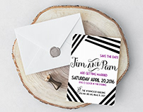 Wynwood Style Wedding Invite