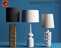 Heathfield & Co 3 table lamps FREE 3d models