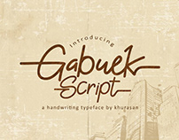 Free Font, Gabuek Script