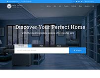 Real Estate Business Website Design Concept