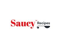 Saucy Recipes Logo Redesign