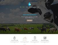 UI Design for online milk seller