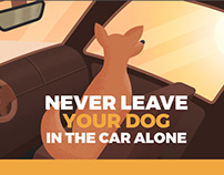 Never leave your dog in the car alone - Infographic