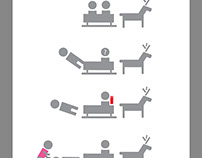 Infographic of how to behave with reindeers