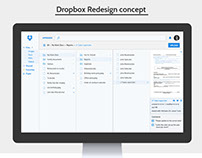 Dropbox Web application re-design