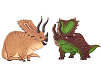 CERATOPSIANS SKETCHES
