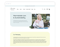 Baby Products eCommerce site - Sustainability Page