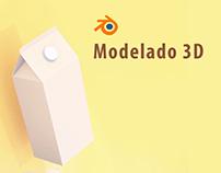 Modelado 3D - Marca de jugo