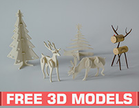 Free 3D models: Christmas Stuff 1