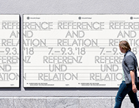 Reference and Relation – visual concept, poster design