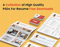Free Resume, Cover Letter, Portfolio PSD Templates