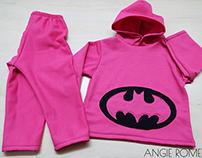 Dressmaking sweatshirt hooded BATMAN