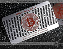Metal Business Cards for Bitcoin Experts