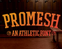 Promesh: A FREE Athletic Font