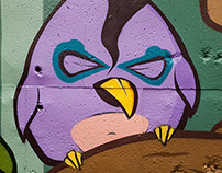 PAINTING BIRDS - graffiti animation (gif-iti)