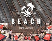 18 PSD Mockups Beach