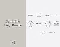 Minimal Feminine Logo Bundle