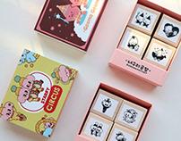 Stamp series of Raccoon factory