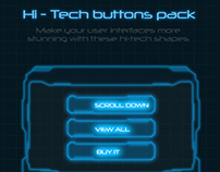 Hi-tech HUD buttons pack