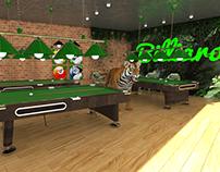 3D Billiard room , (Jungle theme)