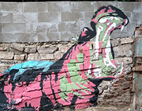 Mural painting - Hippo & Crocodile