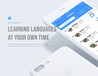 The new way to learn languages. UX/UI UxGilbert