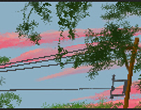 Summer Dusk, Pixelated