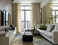 Modern flat in Russia, Moscow by Kerimov Architects