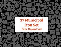 Municipal Icon Set | Free Download