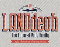 LANDdeuh (Layered font Family)