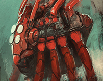 Mecha paintings