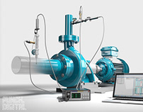 Industrial Pump Monitoring System // CGI Visualisation