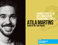 Atila Martins - Predictions Cannes 2016 - Press