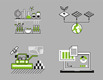 Custom Icon Set for Agriculture Company