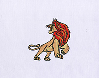 Lion King Simba Lion Embroidery Design