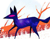 A Night Wolf. (30-minute work challenge)