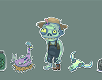 Game art for Zombie Farmer application