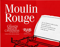Poster for Moulin Rouge show