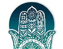 Hamsa Illustrative Logo for Trio Guadalevín