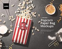 Popcorn Paper Bag Mockup Set