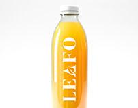 Leafo Natural Juice Packaging Design