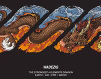 Twisty Logo/ WADEZIG/ The Strongest 4 Elements Dragon