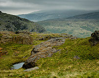 The hills and valleys of Wales