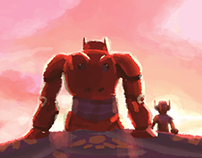 Big Hero 6 color study