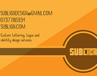 Sublign business card design